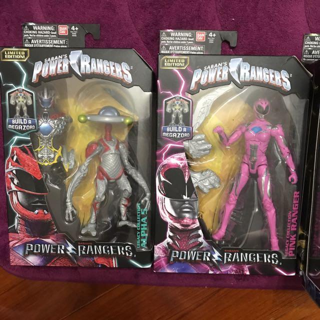 恐龍戰隊電影版 6.5寸 一套六隻 Power Rangers Legacy
