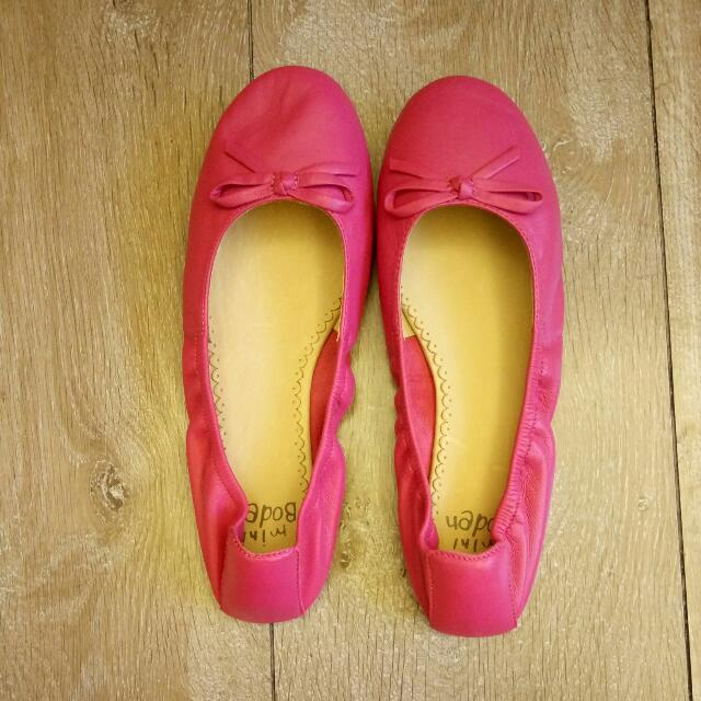 法國真皮娃娃鞋  桃紅色 37號