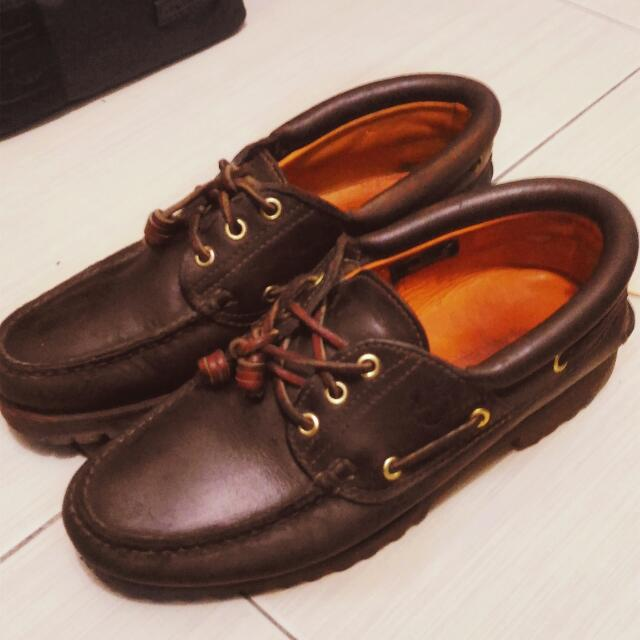 雷根鞋 Timberland US8 41 真皮 帆船鞋