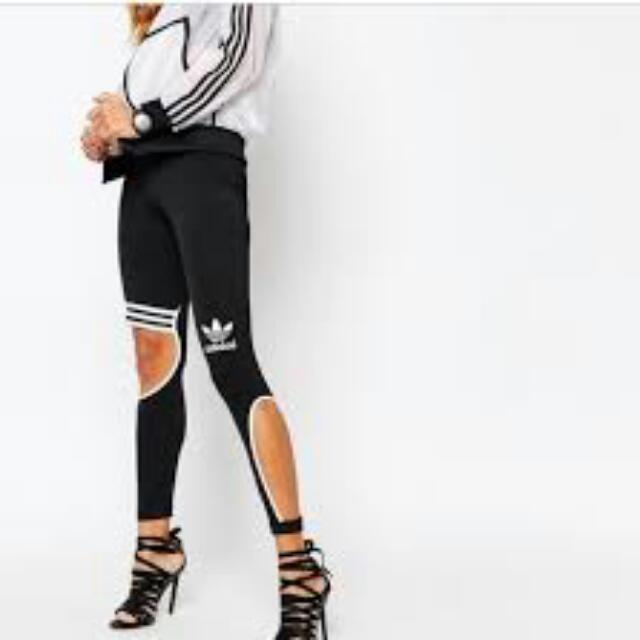3d2c435348e8d6 Adidas Cutout Leggings, Women's Fashion, Clothes on Carousell