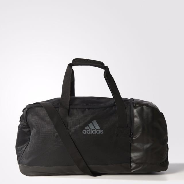 adidas leather duffle bag