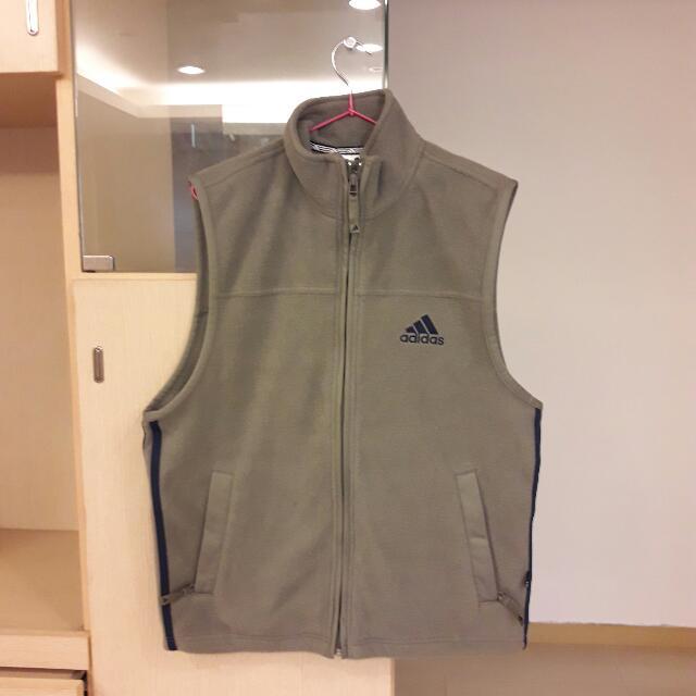 adidas背心,(男,L,淺綠灰)