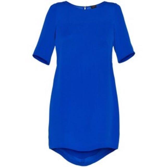 Aritzia T. Babaton Teal Mason Silk Shift Dress