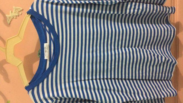#jatuhharga - Atasan Zara Blue Stripes