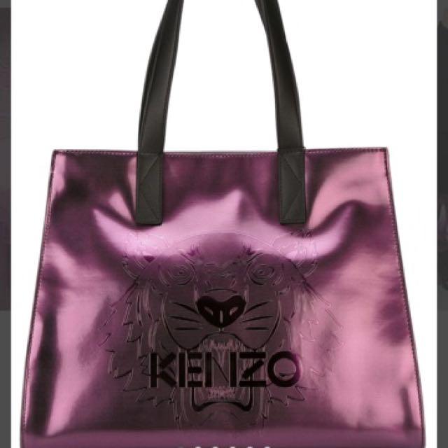 Authentic KENZO Purple Metallic Tote Bag