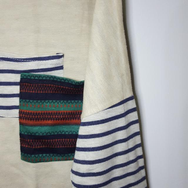 Baju Atasan Khaki Tribal