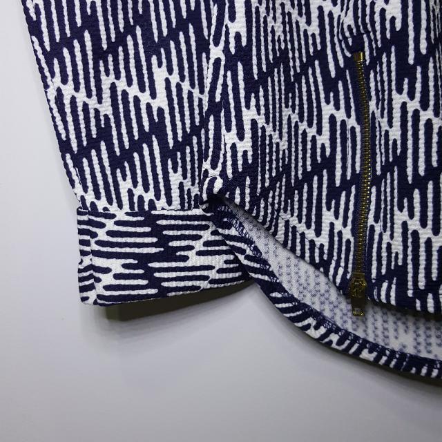Baju Atasan Motif Biru Dongker Putih