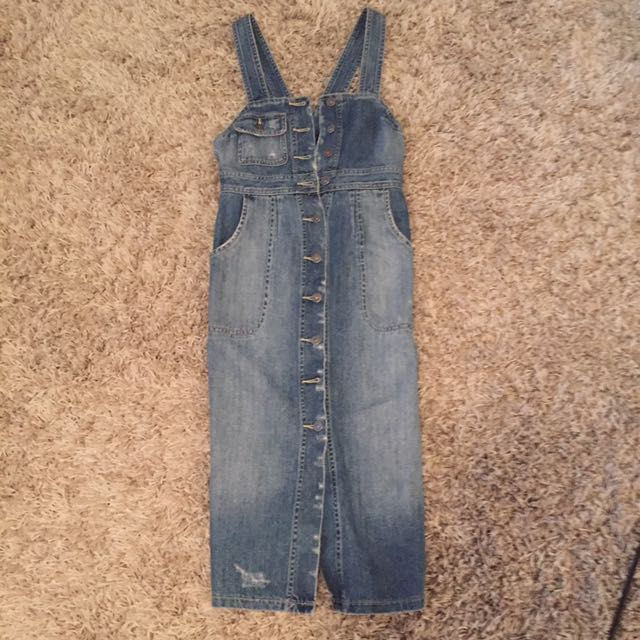 Bardot Distressed Denim Dress Size 6-8