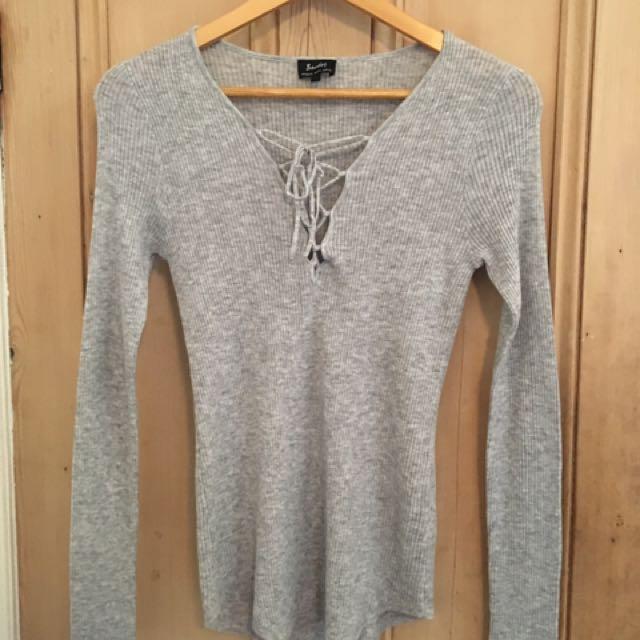 BARDOT Heather Grey Knit