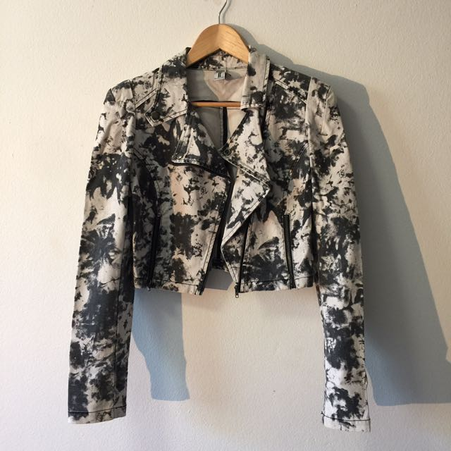 Bettina Liano Tie Die Denim Jacket