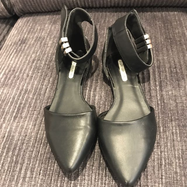 Black Flat Work Shoes Size 7