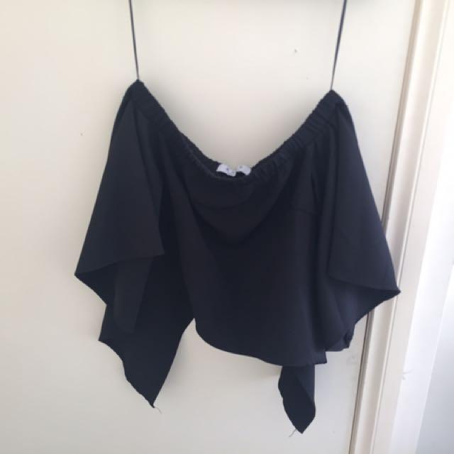 Black Shoulder Top