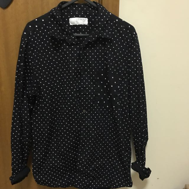 Black T-shirt With White Star