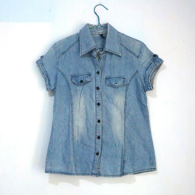 Blue Denim Jeans Shirt