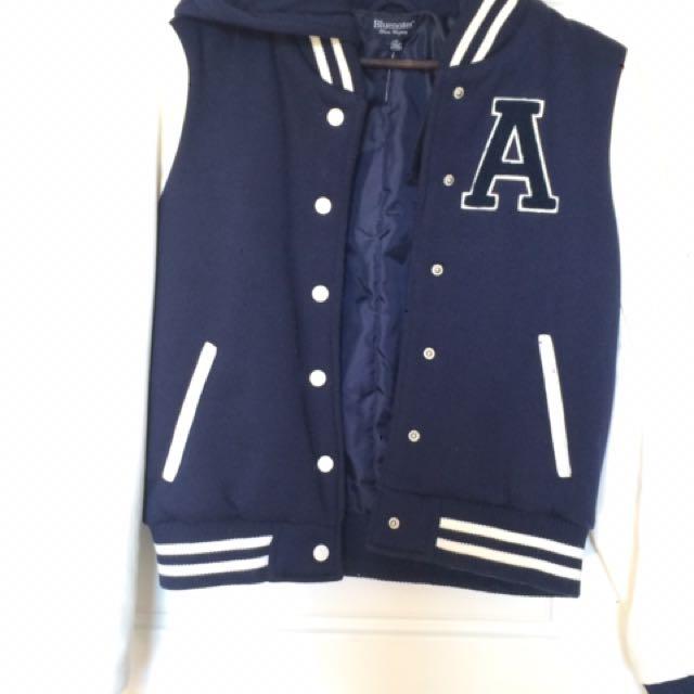 Bluenotes Varsity Jacket: Girls Large *PPU*