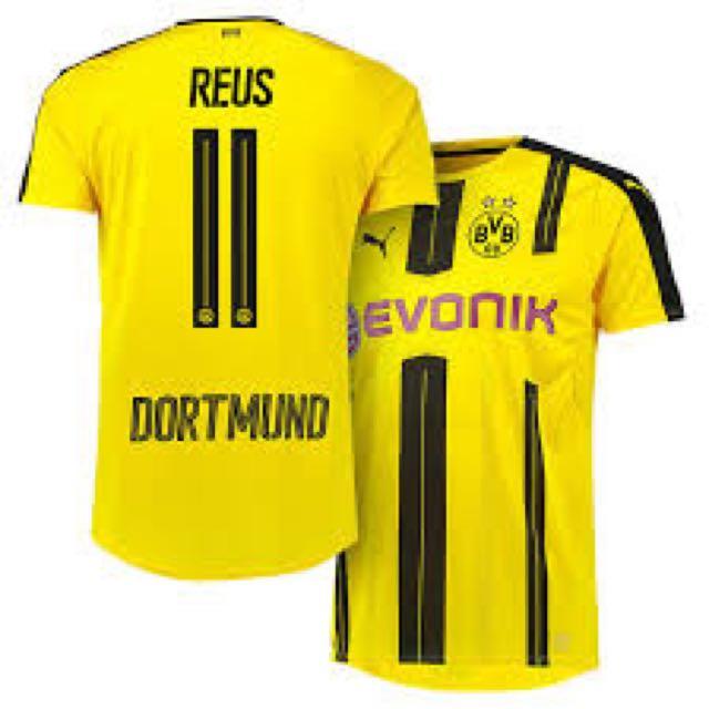 best cheap f9827 d24a8 Borussia Dortmund Bvb Marco Reus 2016-17 Home Jersey, Sports ...