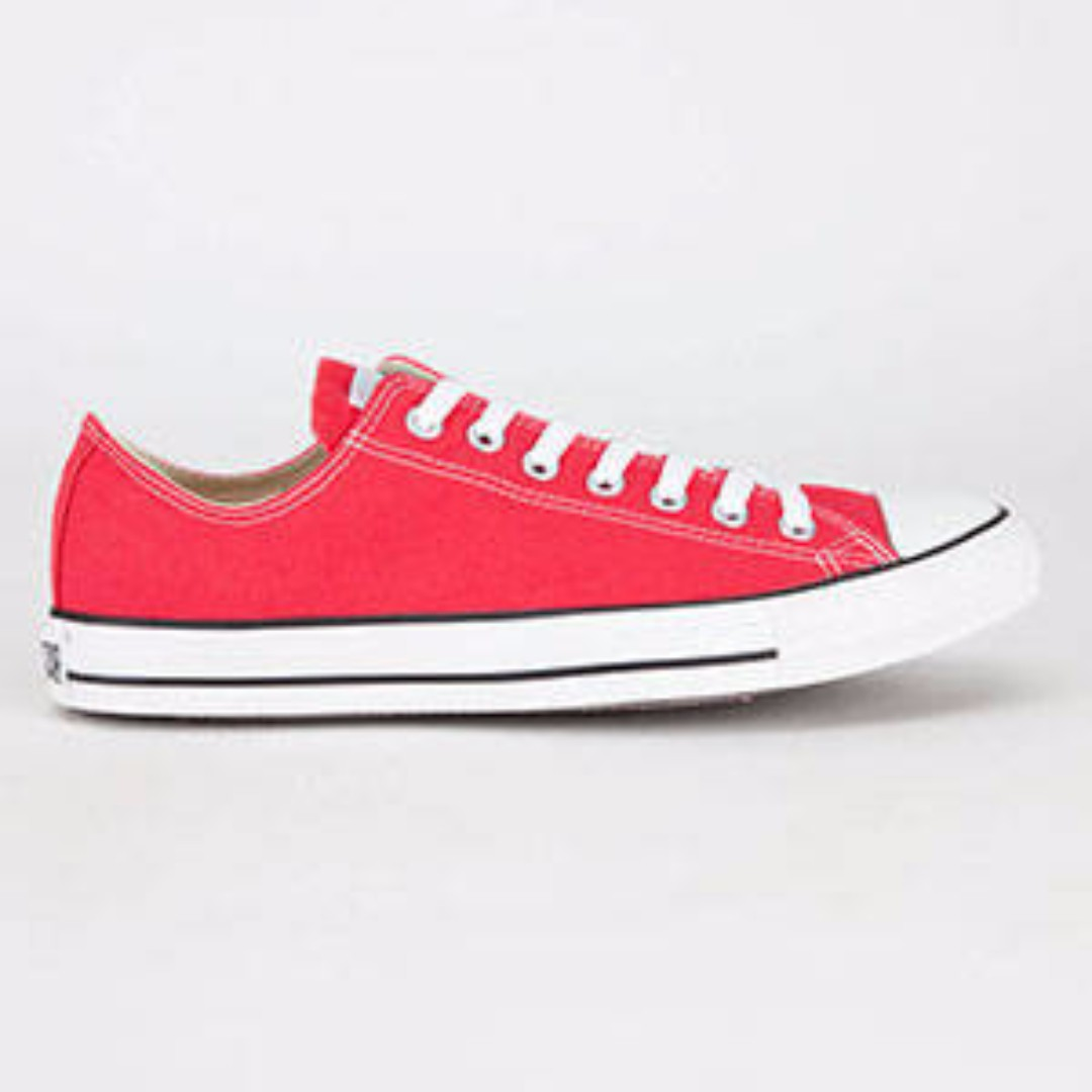 BRAND NEW RED ANKLE CONVERSE - AUTHENTIC