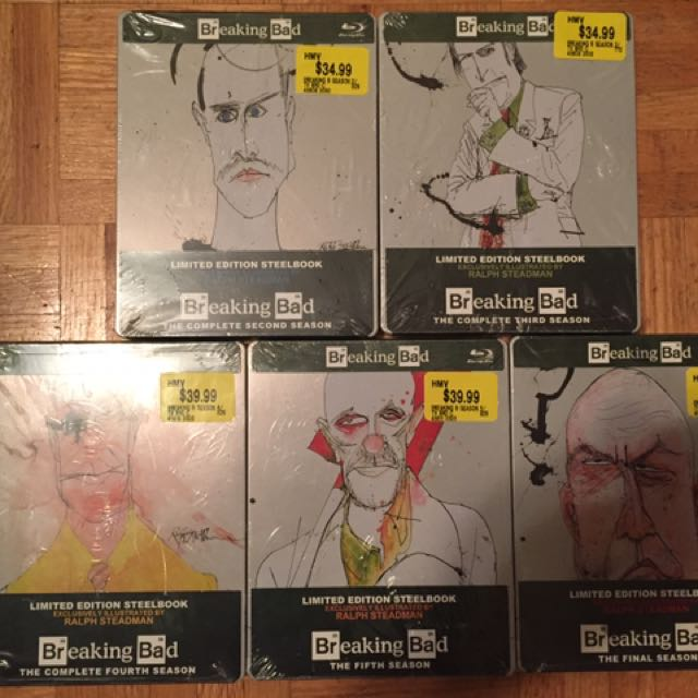 Breaking Bad BluRay - Limited Collector Steelbook Case