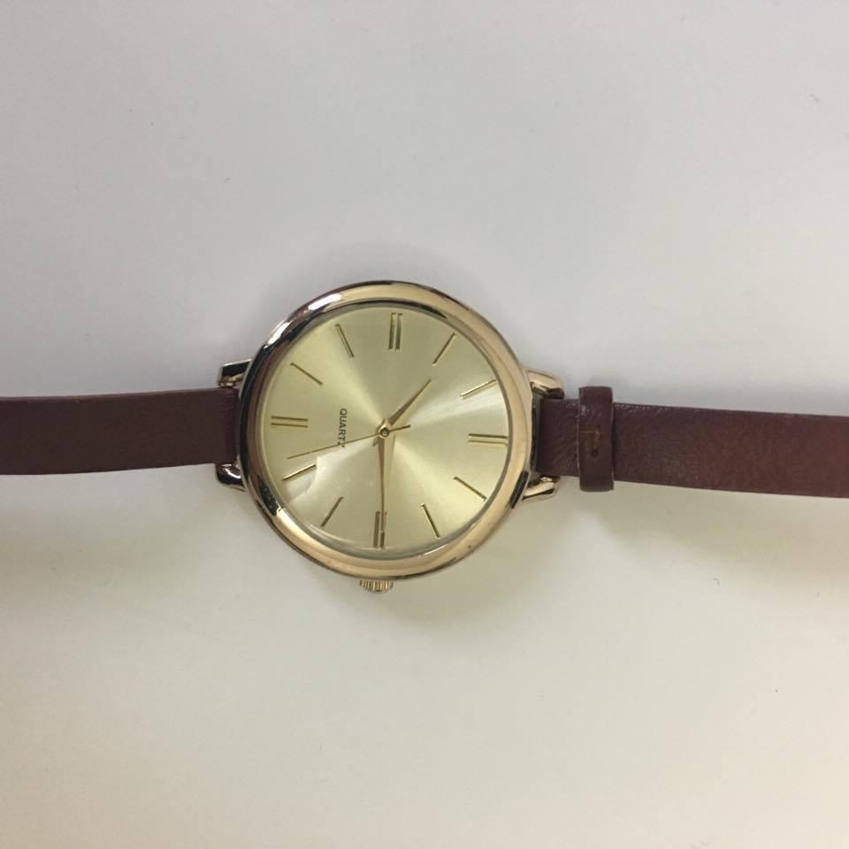 Brown Watch with Golden Rim