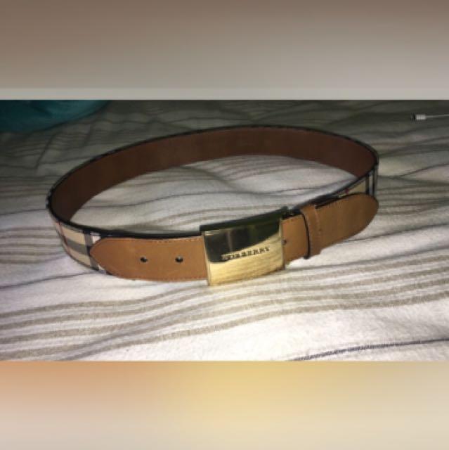 Burberry Belt Size 28-30