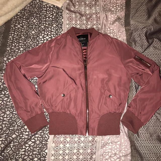Burgandy Bomber Jacket