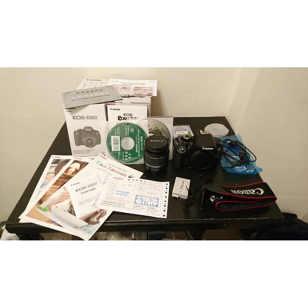 Canon 650D 單相機 (公司貨) + Canon EF-S 18-55mm 鏡頭