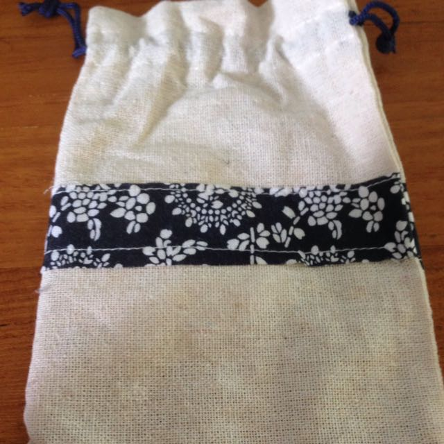 Canvas Mini Drawstring Pouch For Crafts
