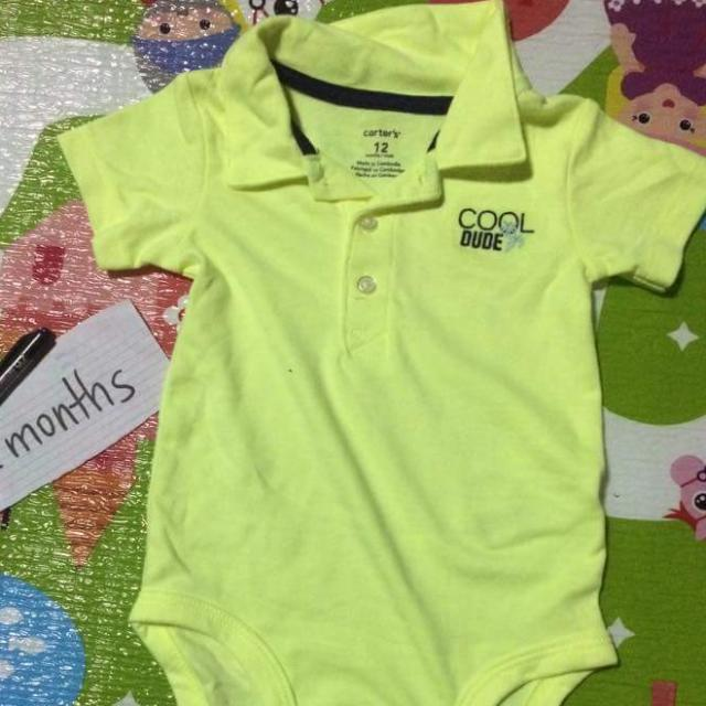 Carters Baby Onesie Collared Polo Shirt NWOT
