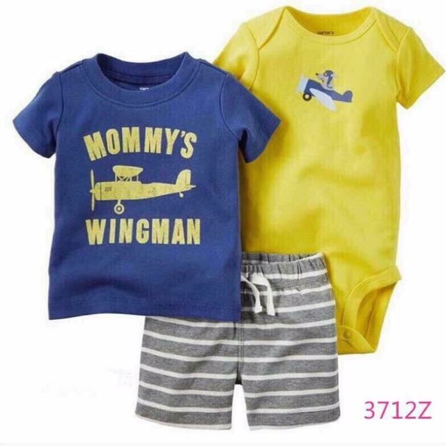 Carter's Onesies Tshirt And Short Set