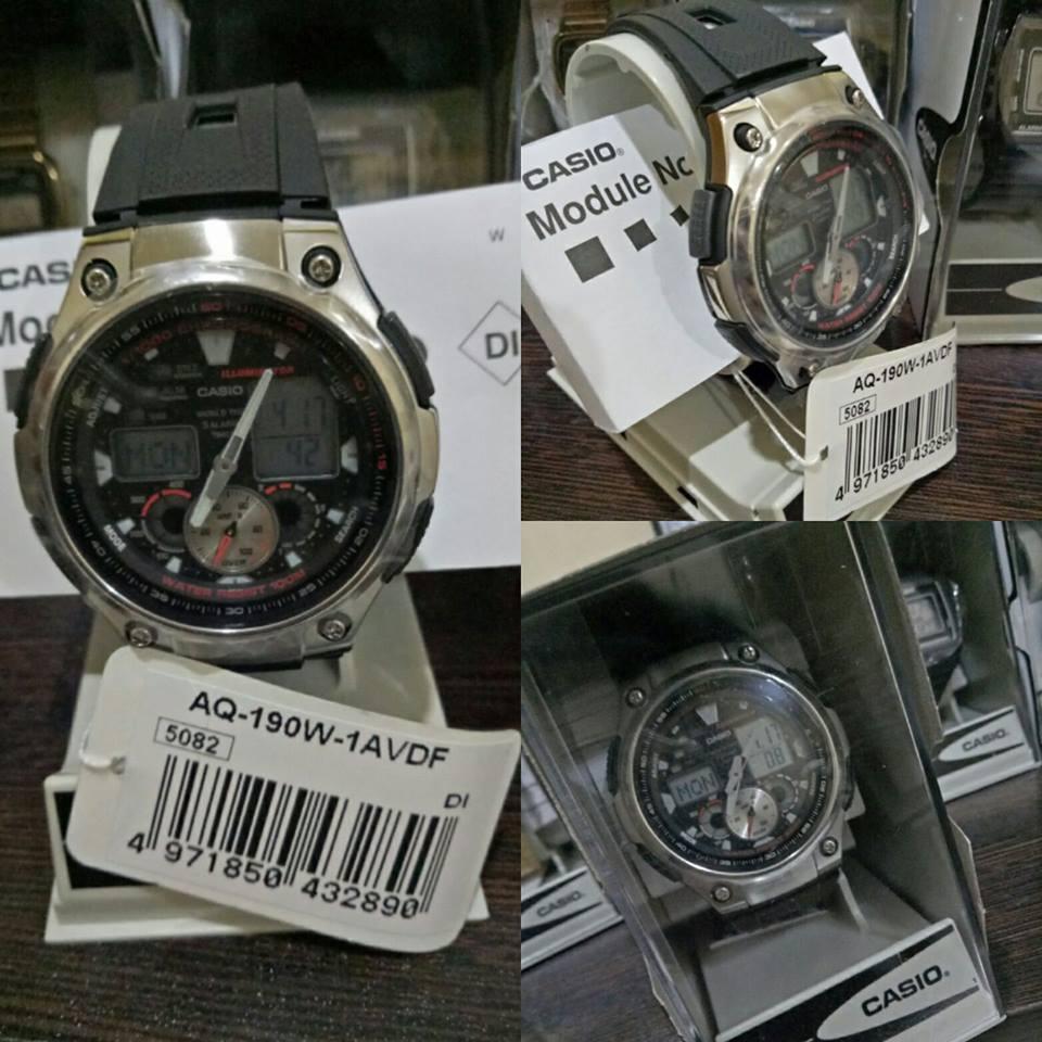 Casio Standard Men's Black/Silver Resin Strap Watch- AQ-190W-1AVDF