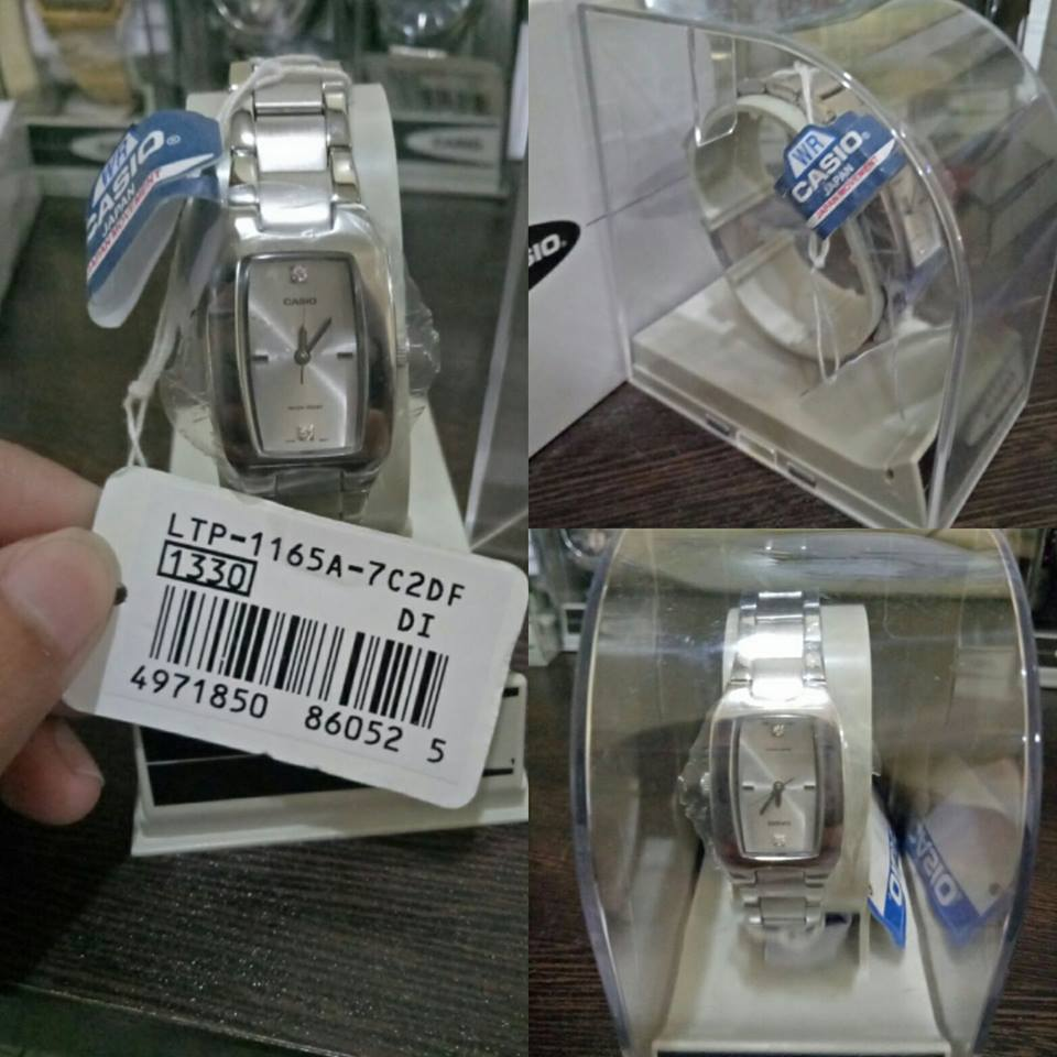 Casio Vintage Women's Silver Stainless Steel Strap Watch- LTP-1165A-7C2DF -