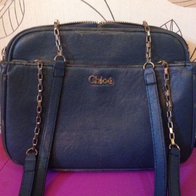 chloe bag navy