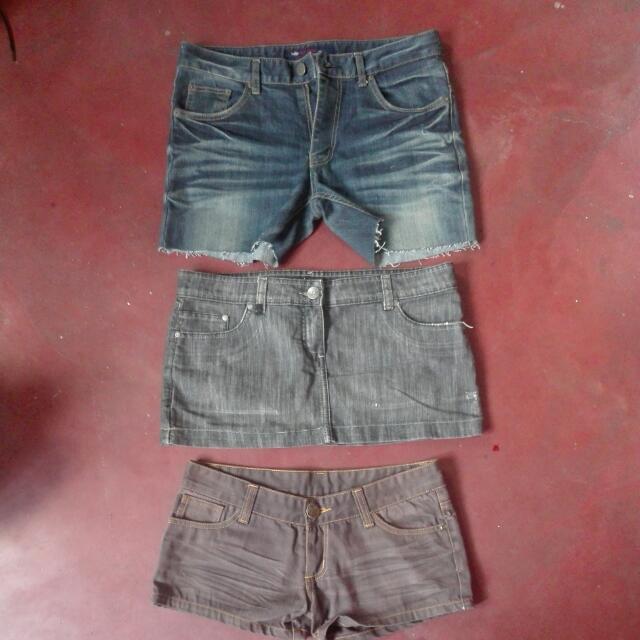 Denim Shorts & Skirt