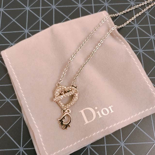 Dior Crystal Heart Shape Necklace