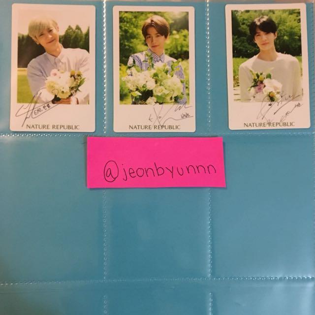 EXO Nature Republic cards
