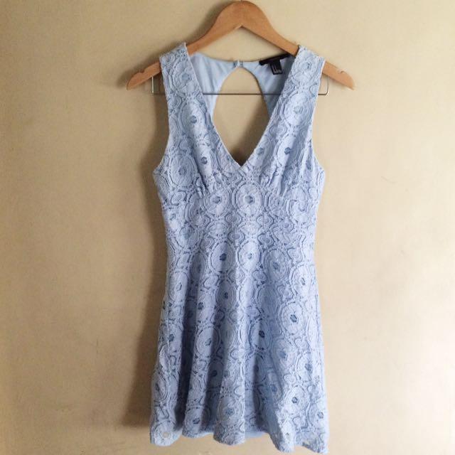 F21 BABY BLUE DRESS