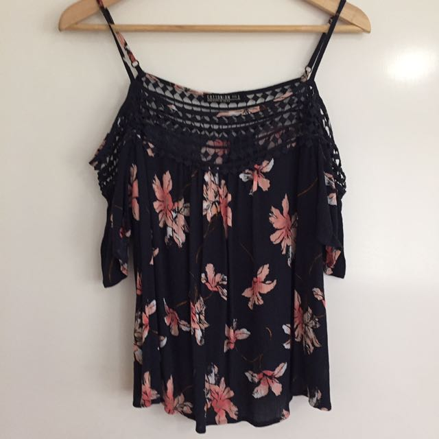 Floral Cold Shoulder Top $5 With Another Purchase