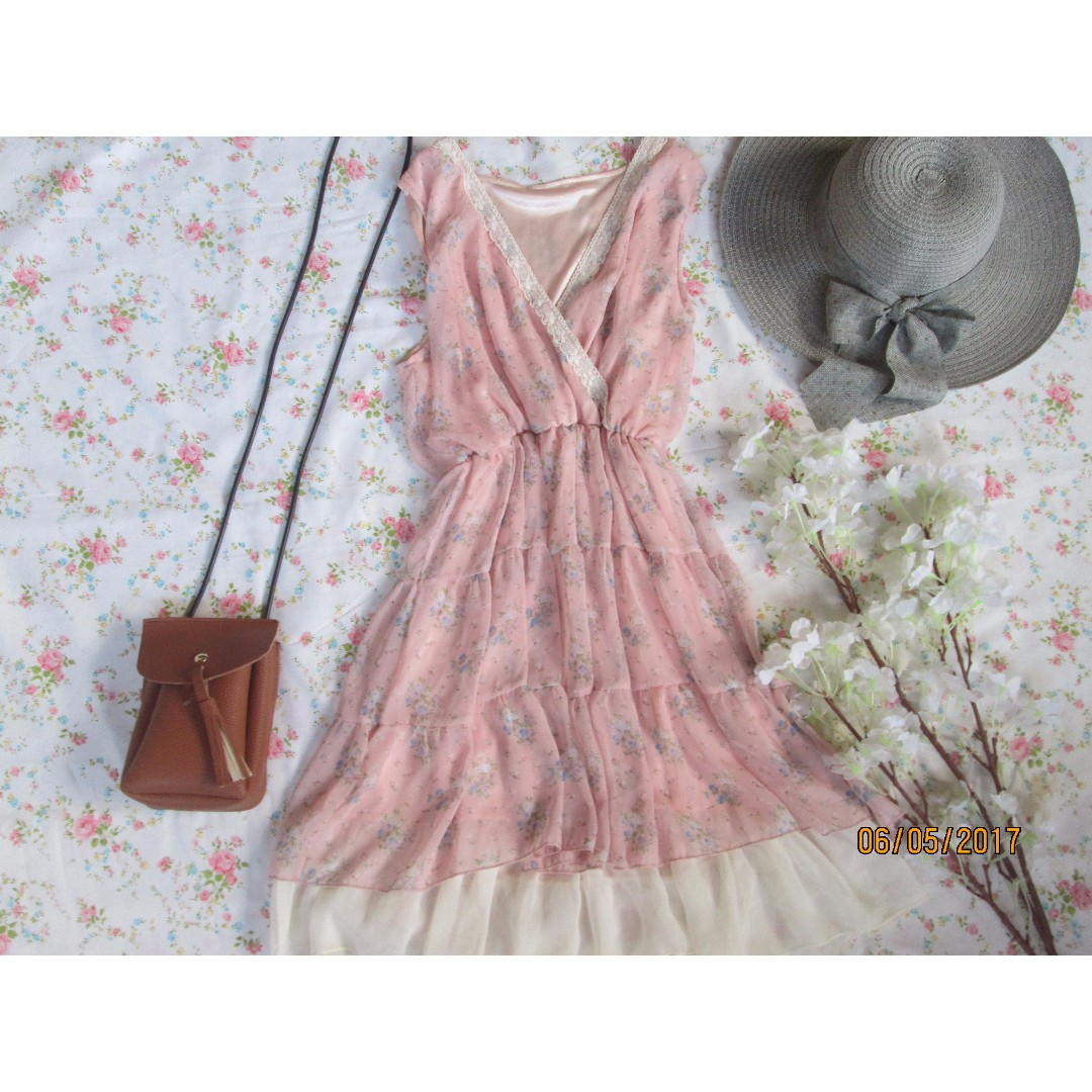 Floral Overlap Dress