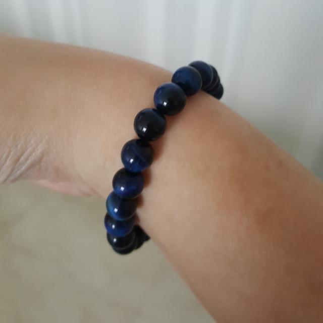 Gelang Blue Tiger Eye Stone Original