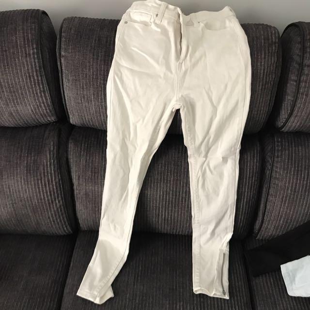 Glassons White Denim Skinny Jeans Size 6