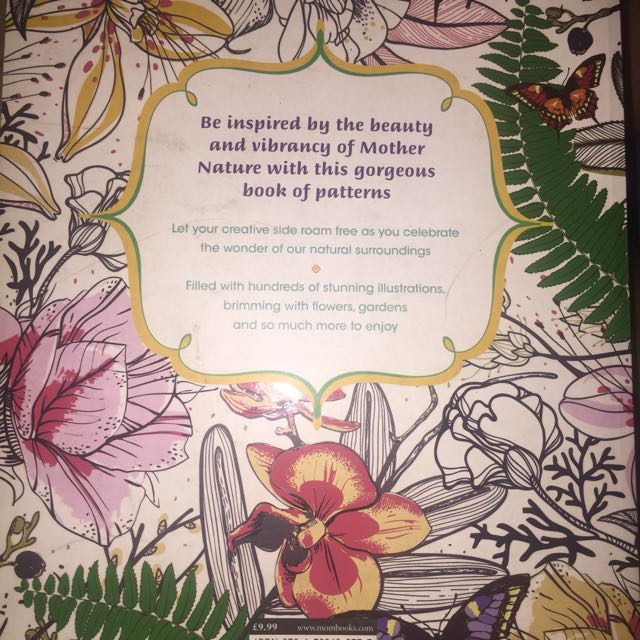 Glorious Garden Adult Coloring Book Books On Carousell