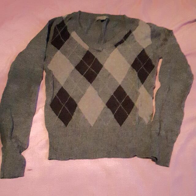 Grey Preppy Sweater (N)