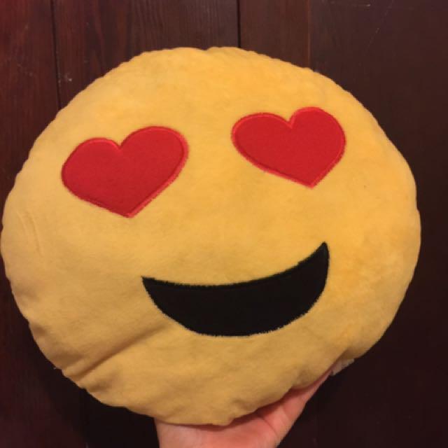 #thecafe Heart-eyed Emoji Pillow