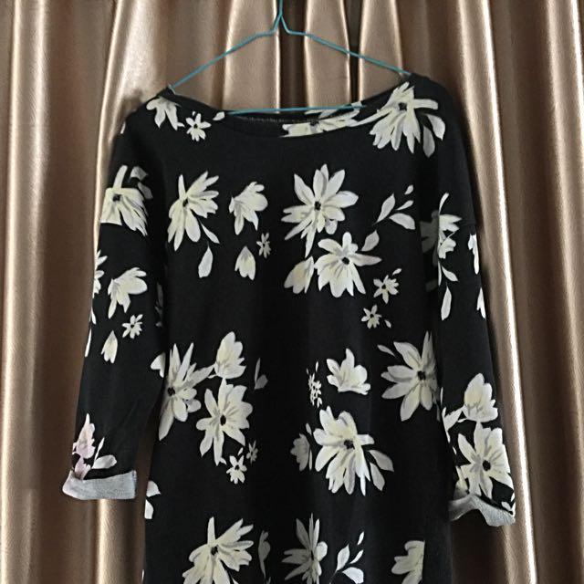 H&M Black Flower