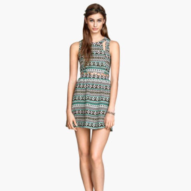 H&M Dress With Cut-Out Details