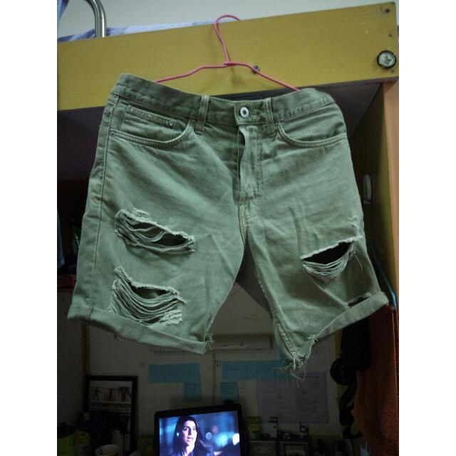 HnM男生短褲子時尚休閒街頭復古牛仔