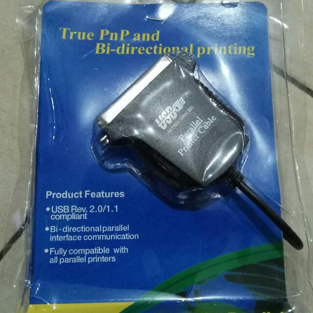 Kabel USB Rp Paralel Untuk Printer