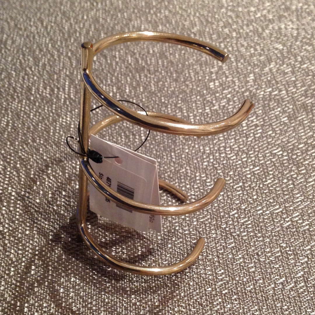 Kenneth Jay Lane gold cuff