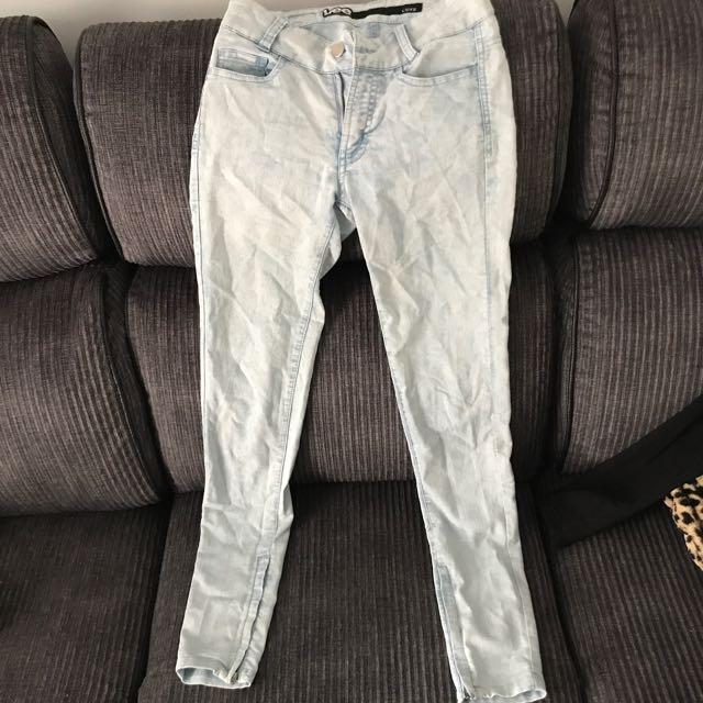 Lee Licks Acid Wash Jeans Size 6