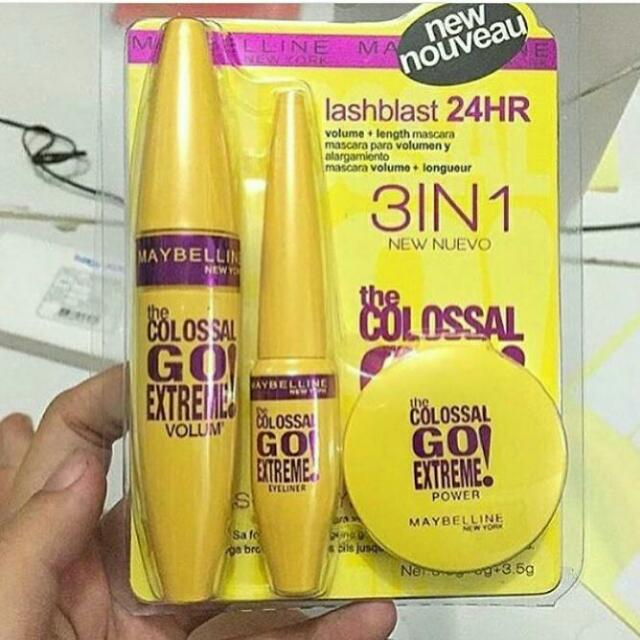 COLOSSAL GO EXTREME MASCARA. Source · SET MAYBELLINE 3 IN 1 (. Source ·